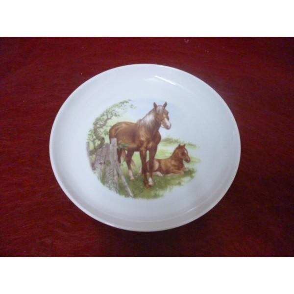 Assiette a dessert elysee decor n 2 cheval son poulain - Decoration assiette dessert ...