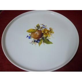 PLAT A TARTE 30cm en Porcelaine décor FRUITS