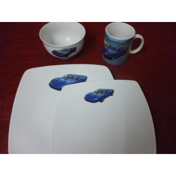 assiette d cor enfant en porcelaine centre vaisselle porcelaine blanche et d cor e plats et. Black Bedroom Furniture Sets. Home Design Ideas