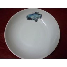 ASSIETTE CALOTTE ELYSEE Décor VOITURE COBRA en porcelaine
