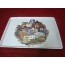 PLATEAU A FROMAGE  en porcelaine décor Fromages