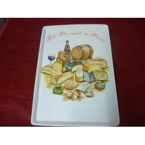 PLATEAU A FROMAGE  en porcelaine décor Fromages de France