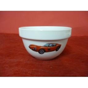 BOL empilable 50cl en Porcelaine décor voiture FERRARI