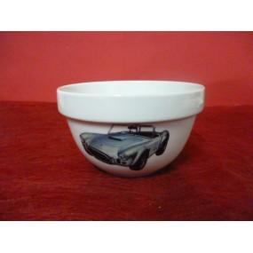 BOL empilable 50cl en Porcelaine décor voiture COBRA