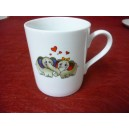 MUG Spécial ST VALENTIN 25cl decor DUP ELEPHANTS en porcelaine