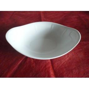 SALADIER OVALE JASTRA en porcelaine blanche