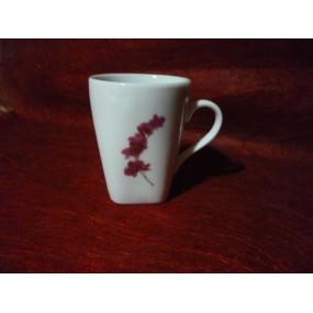 TASSE café Capuccino 15cl Décor orchidee 15 cl en porcelaine
