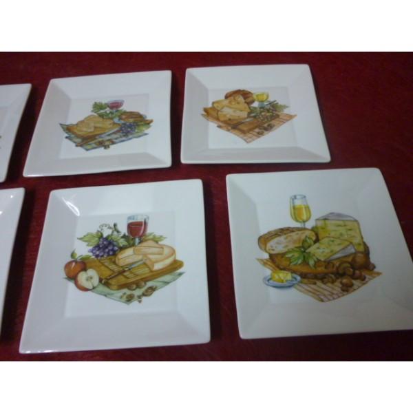 service a fromage 6 assiettes carrees japan en porcelaine centre vaisselle sarl la porcelaine. Black Bedroom Furniture Sets. Home Design Ideas