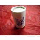 BOUGEOIR CYLINDRIQUE décor FLEURS BLEUES LUISA en porcelaine  Haut 8cm diam 5cm avec bougie