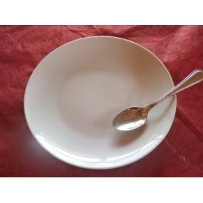 ASSIETTE A DESSERT COUPE LEO  en porcelaine blanche