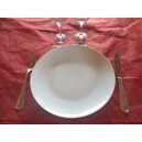 ASSIETTE PLATE COUPE LEO 24cm en porcelaine blanche