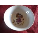 ASSIETTE CREUSE CALOTTE LEO 18cm décor poulbot PETITE FILLE parme en porcelaine