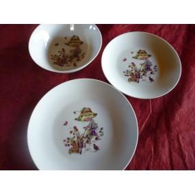 Service 3 assiettes leo d cor poulbot petit jardinier en for Service jardinier