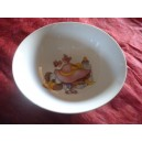 ASSIETTE CREUSE CALOTTE LEO 18cm décor LAPIN ROSE en porcelaine