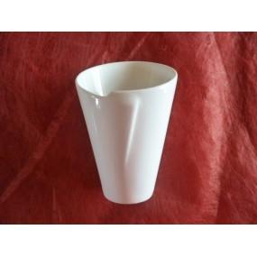 CORNET DE FRITES individuel en porcelaine blanche