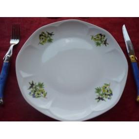 ASSIETTE PLATE 26cm Modèle JASTRA décor OLIVES en PORCELAINE