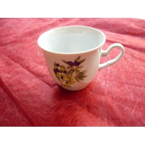 TASSE A CAFE JASTRA 15cl DECOR OLIVES (sans soustasse) en porcelaine