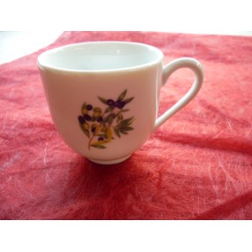 TASSE A CAFE BOULE 10cl en porcelaine décor OLIVES (sans soustasse)