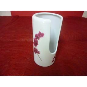 POT A COTON DEMAQUILLEUR ROND en porcelaine Décor ORCHIDEE