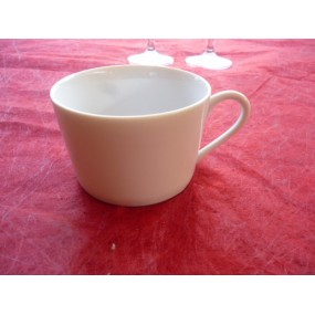 TASSE A THE / CAFE EMPIRE 22cl seule sans soustasse en porcelaine blanche