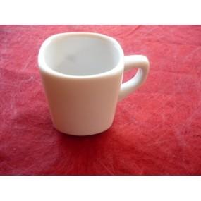 TASSE A CAFE carré LEA 8cl seule (sans soustasse) en porcelaine blanche