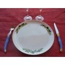 ASSIETTE PLATE ELYSEE DECOR OLIVES en Porcelaine