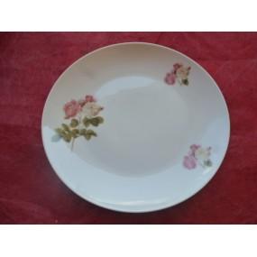 ASSIETTE A DESSERT COUPE LEO  en porcelaine DECOR ROSE Capitolina