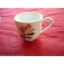 TASSE A CAFE BOULE 10cl en porcelaine décor ROSES Capitolina (sans soustasse)