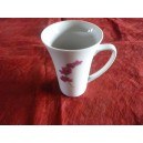 MUG TRIANON 35ccl DECOR ORCHIDEE  en porcelaine