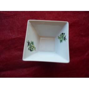 COUPELLE CARREE JAPAN 10cm en Porcelaine Décor OLIVES