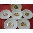 SERVICE  6 Assiettes à fromage Modèle FRYDERYKA en porcelaine