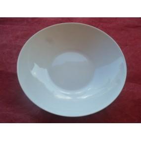ASSIETTE CREUSE CALOTTE QUEBEC  diam 21.5cm en porcelaine blanche