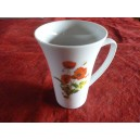 MUG TRIANON 35ccl DECOR COQUELICOTS en porcelaine