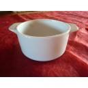CAQUELON  ROND (sans couvercle) 38cl en porcelaine blanche