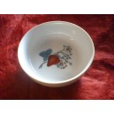 COUPELLE ELYSEE Décor FRAISES 25cl diam 13cm en porcelaine