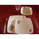 SERVICE DE TABLE 24 pcs SAHARA décor bleu LUISA en PORCELAINE