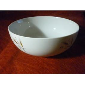 SALADIER BOULE 250cl diam 25.7cm en porcelaine décor EPI DE BLE