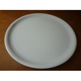PLAT A PIZZA OU A TARTE 30,5cm modèle TINA Grand feu en Porcelaine blanche