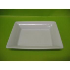 VIDE POCHE RECTANGULAIRE 19 X 16 en porcelaine blanche