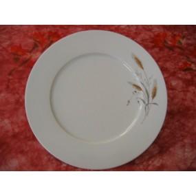 ASSIETTE PLATE A AILE DECOR EPI BLE FONCE n°2 modèle HELENE