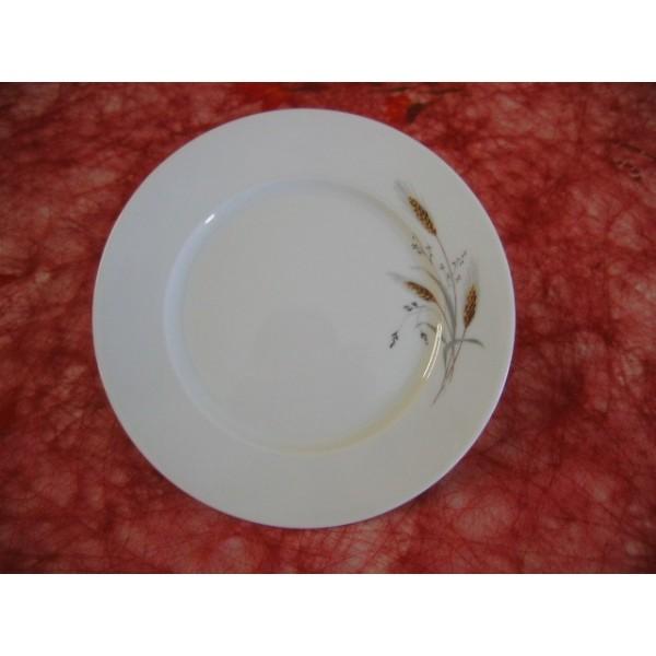 Assiette dessert 21cm mod le h l ne decor epi ble fonce n - Decoration assiette dessert ...
