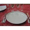 ASSIETTE PLATE ELYSEE COUPE en porcelaine blanche