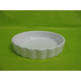 MOULE A TARTELETTE ou TOURTIERE Individuelle 15 cm en porcelaine blanche