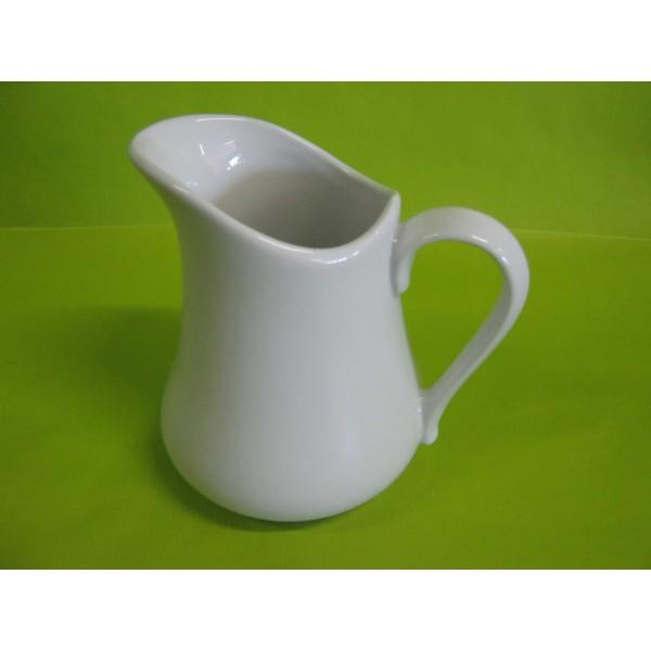 pichet pot a lait boule 70cl en porcelaine blanche centre vaisselle sarl la porcelaine de. Black Bedroom Furniture Sets. Home Design Ideas