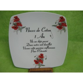 assiette d cor noces en porcelaine centre vaisselle porcelaine blanche et d cor e plats et. Black Bedroom Furniture Sets. Home Design Ideas