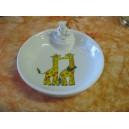 ASSIETTE  CHAUFFANTE Décor GIRAFE en porcelaine