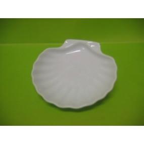 COQUILLE ST JACQUES en porcelaine blanche 16cl