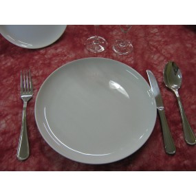 ASSIETTE A DESSERT ELYSEE  en porcelaine blanche