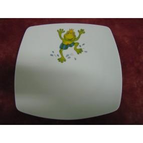 ASSIETTE A DESSERT SAHARA en porcelaine DECOR GRENOUILLE