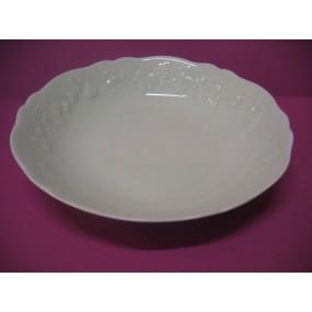 PLAT CREUX CALIFORNIA ROND 25cm ou JATTE A CREME en porcelaine de LIMOGES Deshoulières